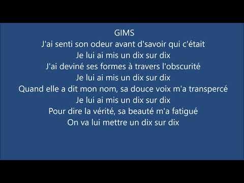 GIMS - 10/10 Feat. Dadju & Alonzo (Paroles/Lyrics)