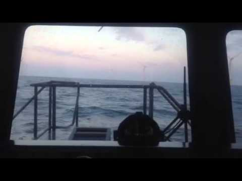 Cruising about an offshore wind farm