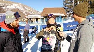 Interview with Yuki Kadono after his winning run in Mens Slopestyle - 2015 Burton U.S. Open