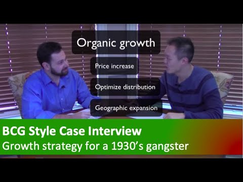 Consulting case interview demonstration and commentary - Gro