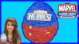 GIANT EGG SURPRISE OPENING Playskool Heros Marvel