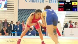 ЧР-2016. Женщины. 48 кг. Четвертьфинал. Надежда Саражакова - Надежда Фёдорова