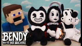 Bendy and the Ink Machine Official Plush Toys Figures Bendy Boris Wolf & Alice Angel BATIM