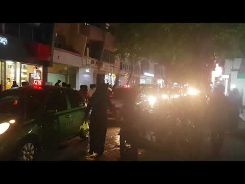 Heavy Traffic Jam at Majeedhee Magu, Male',Maldives