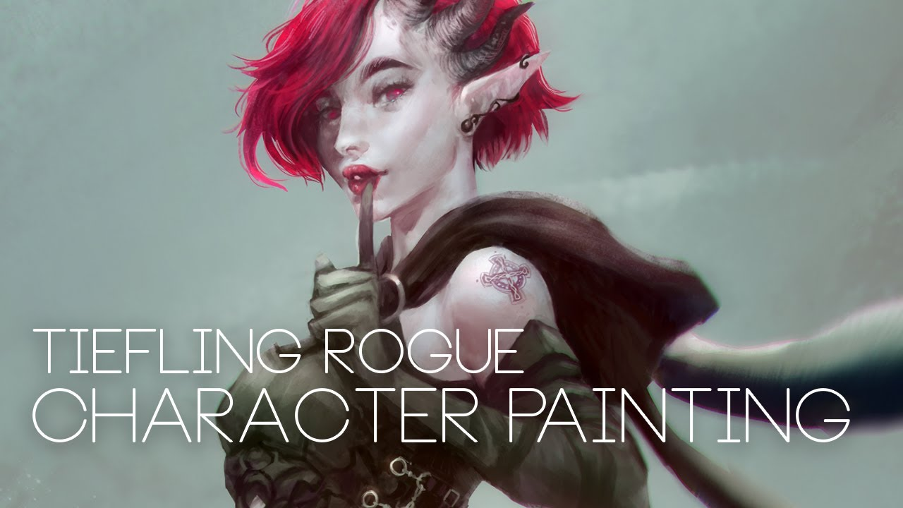 Tiefling Rogue Character Painting