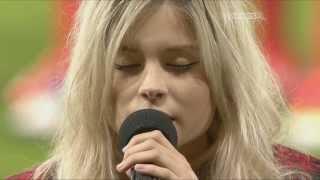 nina nesbitt singing scottish national anthem at hampden stadium sky sports 3 06 09 13