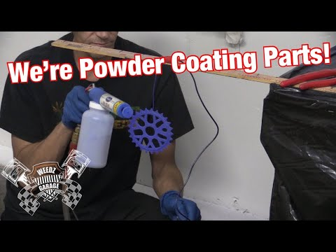 Using Our New Eastwood Duel Voltage Powder Coating System