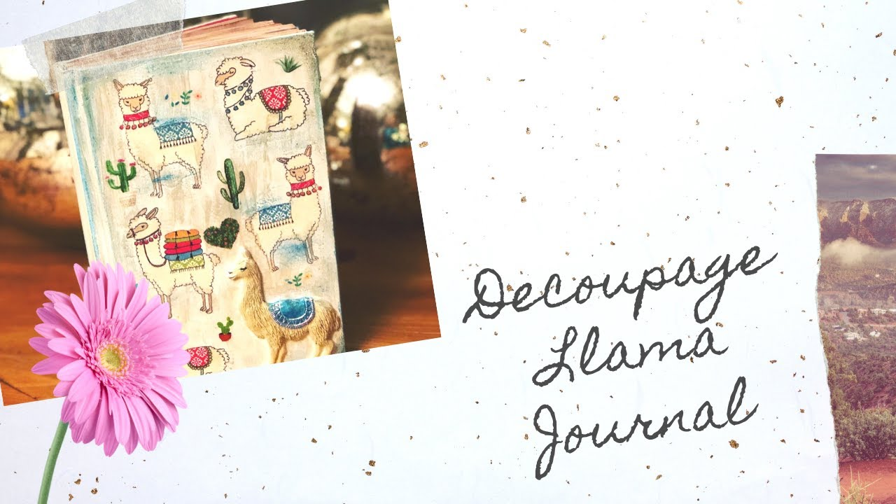 DIY Decoupage Llama journal