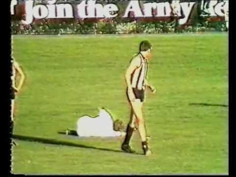 Collingwood Football Player Goes Berserk!