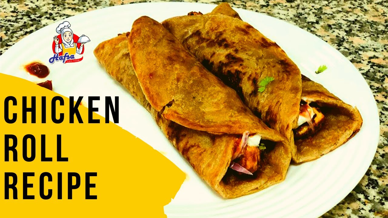 Instant Chicken Roll Recipe homemade for Iftaar , Children's lunch box
