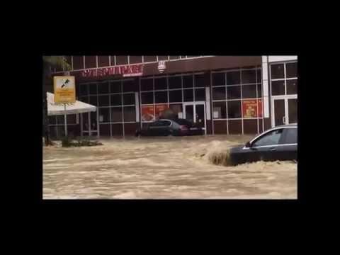 Наводнение в Сочи 25.06.2015. Адлер, Чайсовхоз, улица Гастелло
