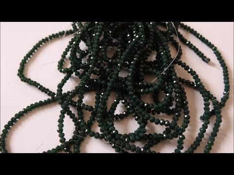 DIY - Green Crystal Bead Necklace   Full Tutorial For Beginners - Without Using Wire -  Art With HHS