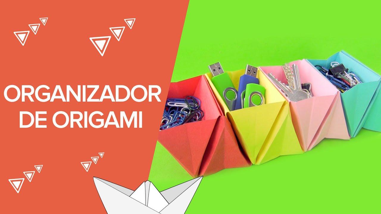 Organizador de cartulina paso a paso origami para ni os - Papiroflexia paso a paso ...