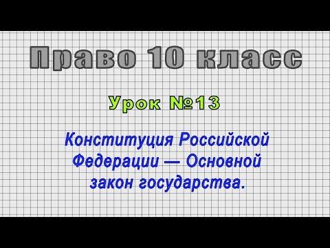 Право 10 класс (Урок№13 - Конституция Российской Федерации — Основной закон государства.)