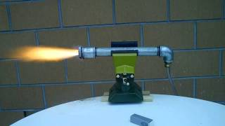 Hybrid Rocket Engine Test 1
