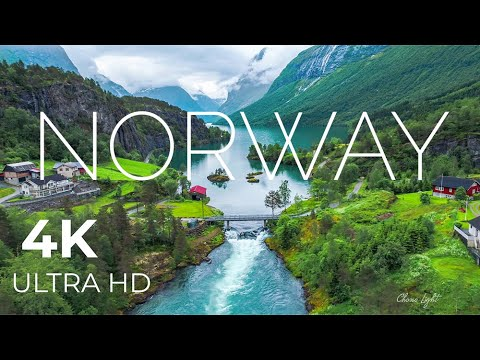 Norway AMAZING Beautiful Nature with Relaxing Music and sound, 4k Ultra HD | Relaxation film