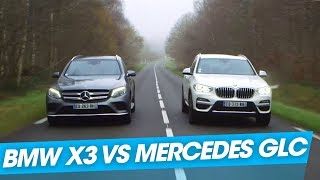 Le duel : BMW X3 vs Mercedes GLC