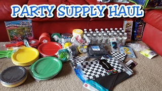 Car Themed Party Supplies HAUL