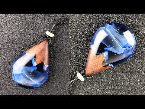 epoxy resin art jewelry/Snow hill under the Starry sky/how to make a charming pendant
