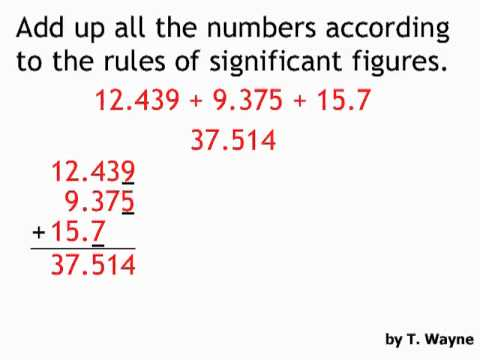 Significant Figures Addition And Subtraction Example Youtube