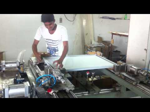 Manual solar module production line