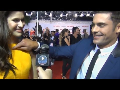 Zac Efron Can't Stop Flirting With Alexandra Daddario