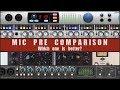 MIC PRE COMPARISON Presonus Audient Universal Audio Focusrite mp3