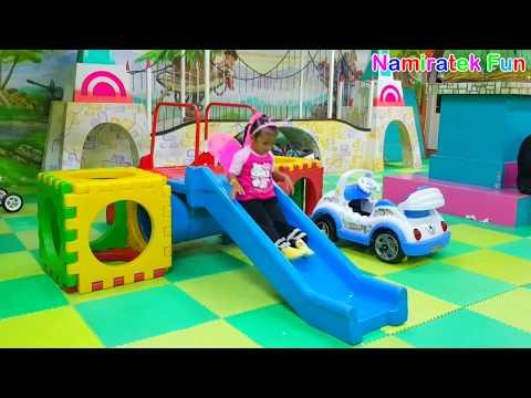 mainan anak taman bermain anak trampolin mobil mobilan anak mandi bola indoor playground