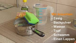 Backofen reinigen - Backöfen mit Essig & Backpulver sauber machen