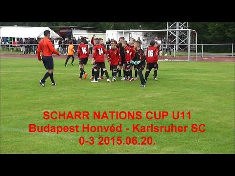 SCHARR NATIONS CUP U11 Budapest Honvéd - Karlsruher SC 0-3 2015.06.20.