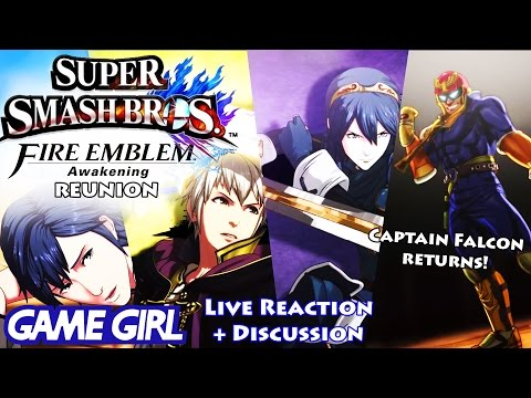 JustJesss Reacts Live: Lucina, Captain Falcon, AND Robin! - Game Girl