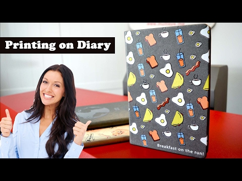 Printing on Book / Diary cover - Customized UV Printing