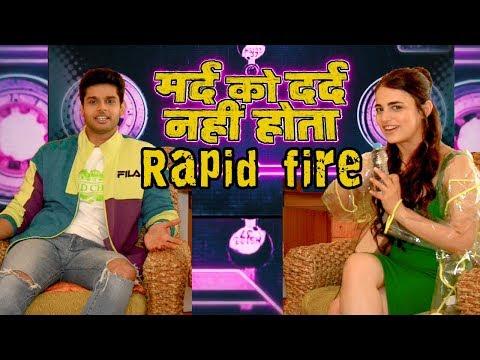 Rapid Fire With Radhika Madan & Abhimanyu Dassani  Mard Ko Dard Nahi Hota