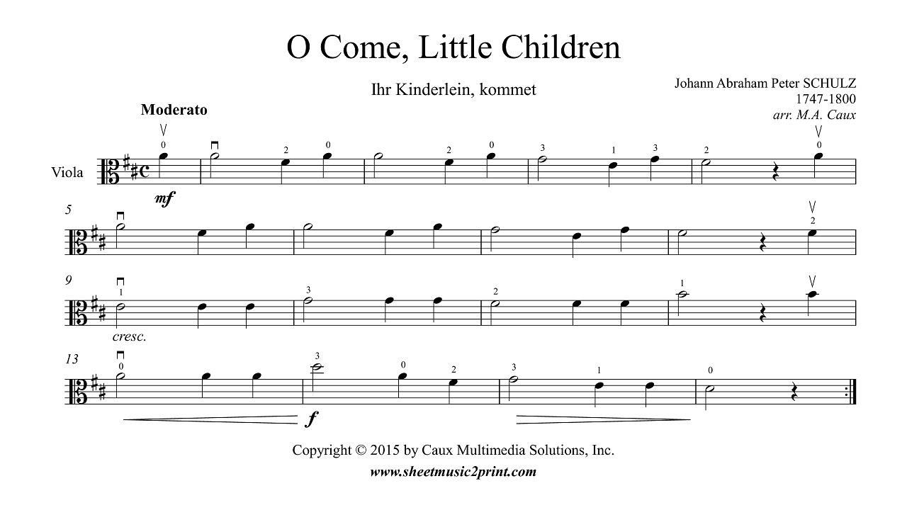 o come, little children - viola - youtube  youtube