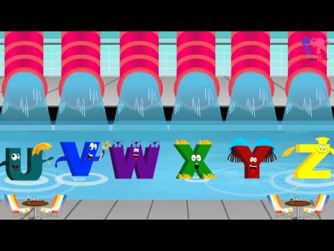ABC Song  Alphabets Song in Water Park  Abc Phonics Song for Children