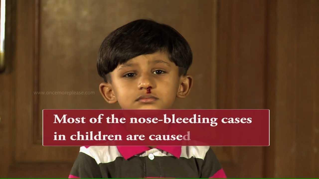 how to stop nose bleeding in kids