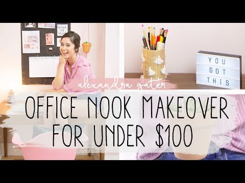DIY OFFICE SPACE MAKEOVER | $100 CHALLENGE