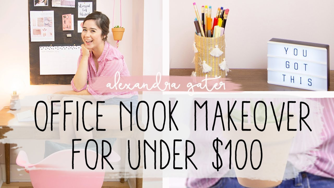 Diy Office Space Makeover 100 Challenge Youtube
