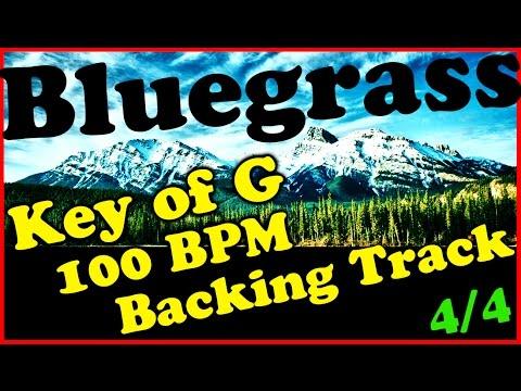 Bluegrass Backing Track in G Major - 100BPM Extended Chords Jam Track