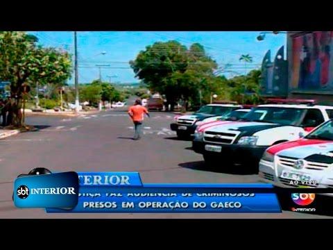 AUDIÊNCIA Justiça de Mirandópolis faz audiência de presos em operação do Gaeco