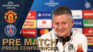 Press Conference | Ole Gunnar Solskjaer & Anthony Martial | Manchester United v Paris St-Germain