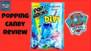 Paw Patrol, Marshall, Pop Rocks Dips, Kid Candy Review