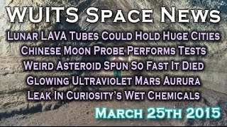 Study Claims Lunar Caverns Could Hold City Sized Colonies + More - WUITS Space News