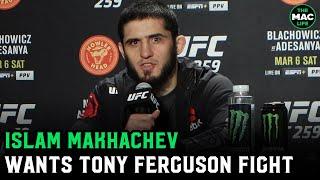 "<b>Islam Makhachev</b> wants Tony Ferguson: ""I want to help him retire ..."