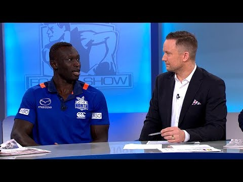Majak Daw on The Sunday Footy Show - Ch9 (June 24, 2018)