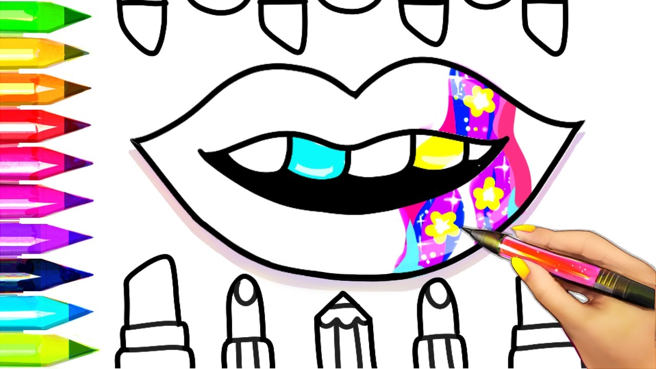Lip Makeup Coloring Pages
