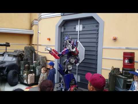 Transformers, Optimus Prime, Universal Studios, Hollywood.