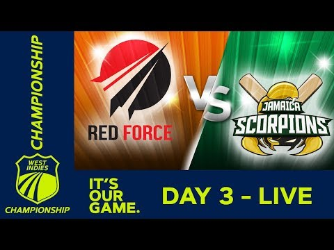 *LIVE West Indies Championship - Day 3* | T&T Red Force v Jamaica | Saturday 16th March 2019