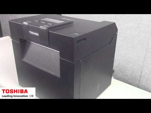 The DB-EA4D's thermal barcode printer using Minisoft Form