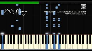 PINK FLOYD - ANOTHER BRICK IN THE WALL - SYNTHESIA (PIANO COVER) + SHEET MUSIC